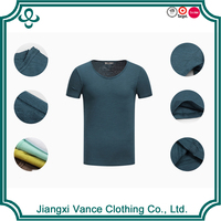 European Fashion Men's Elongate Men's t shirts Plain High Quality Short Sleeve Slit Men's t shirts
