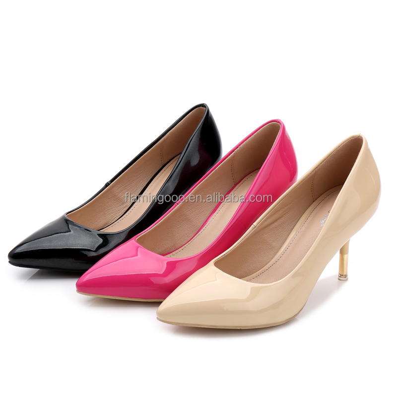 FLAMINGO 2016 LATEST ODM OEM sex high heel ladies pump shoes woman