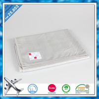 BSCI SEDEX Certificate Factory Easy Carry Travel Airline Blanket Lightweight Solid Airplane Blanket Disposable Airline Blankets