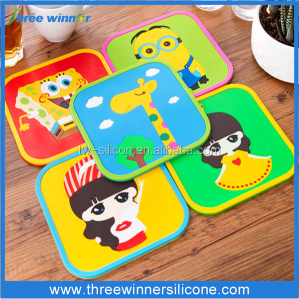 silicone coffee mat fashion silicone pot mat silicone cup mat