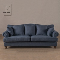 Multiple colors support oem 220*94*89 Three Seats French Style Sofa European,Fabric sofa
