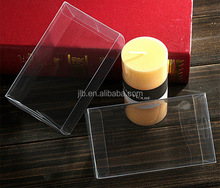 Clear pvc plastic box customized candle packaging