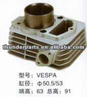 Motorcycle cylinder block,cylinder kit, parts for Vespa