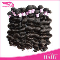 New fashion 3 bundles natural indian hair ,100% virign human hair weft