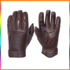 Adults motorcycle gloves brown/ Leather motorcycle racing gloves/ Racing gloves with rubber paddings