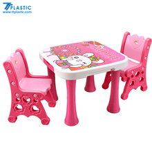 childrens study table and chairs