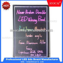 Illuminated Message Writing Board LED Lighted Menu sign / China LED Displays With Remote control