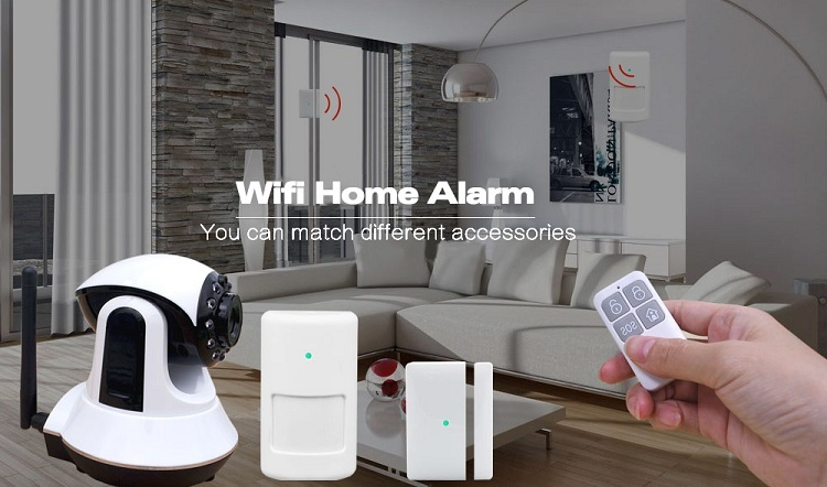 wifi gsm dual network wireless home intelligent alarm system
