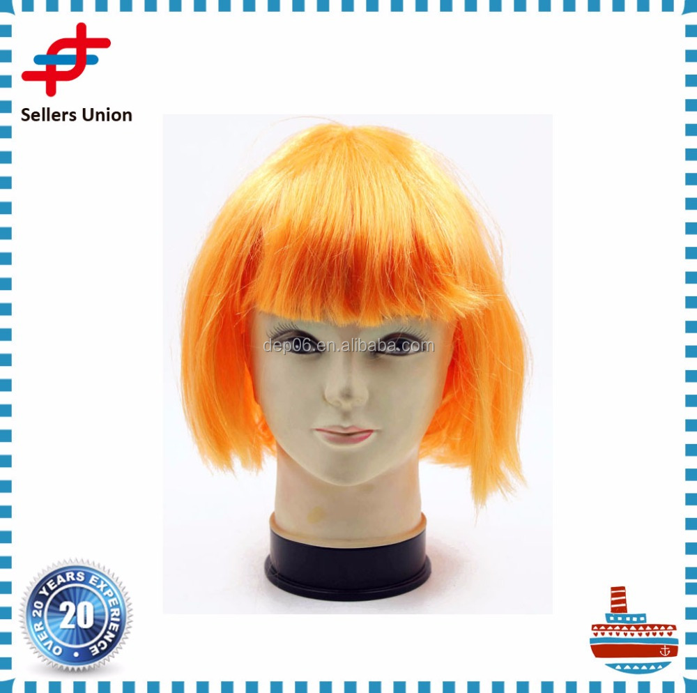New design Festival Party Wigs Orange Bobo wigs Hairpieces
