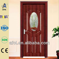 AFOL residental glass easy installing steel door