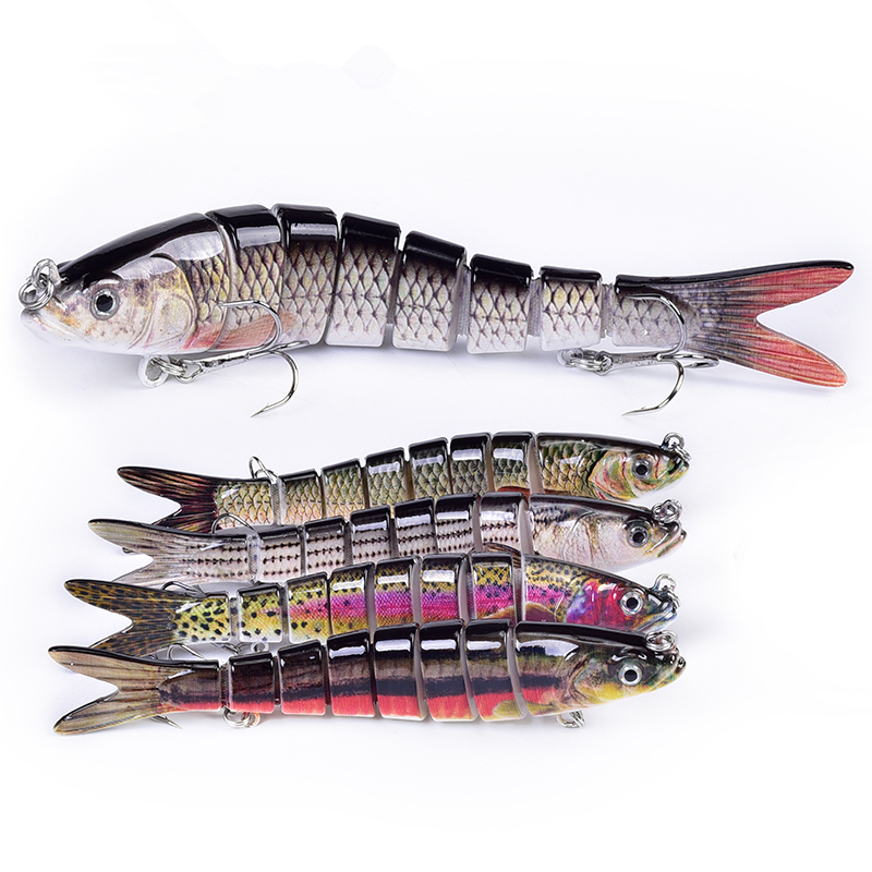 Flexible 8 Segment Hard Trout Fishing Lures <strong>Manufacturer</strong>, Buy Jointed Swim Biat Lures