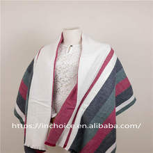 Multicolored Lightweight knitted Striped Scarf four Color