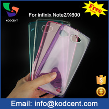 2016 Soft tpu slim mobile phone case for phone cover infinix note 2 X600