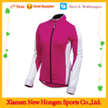 Top quality women's design pink long sleeve cycling jerseys
