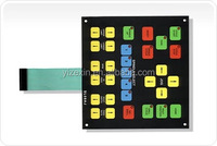 Tactile control panel membrane switch push button membrane switch