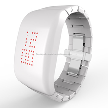 ABS High-grade Explosion - proof LED White Watch with Stainless Steel butterfly Shape Clasp