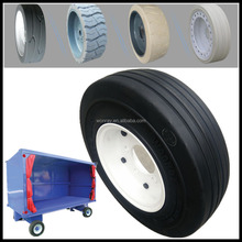 airless cushion aircraft tires for sale, 4.00-8 SOLID tire 3.75 rim for luggage trolley