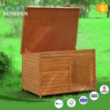 Hot Sale Chinese Dog Cages Wooden Dog House With Open Roof Top dogs and puppies for sale Slant Roof