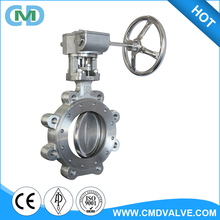 API 609 Stainless Steel 6 inch Hand Gear Operated Lug Type Butterfly Valve