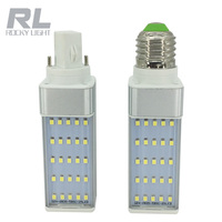 G24 LED bulb 5W 7w 9W 12w 15w E27 LED corn bulb lamp light SMD5730 180 degree horizontal plug light