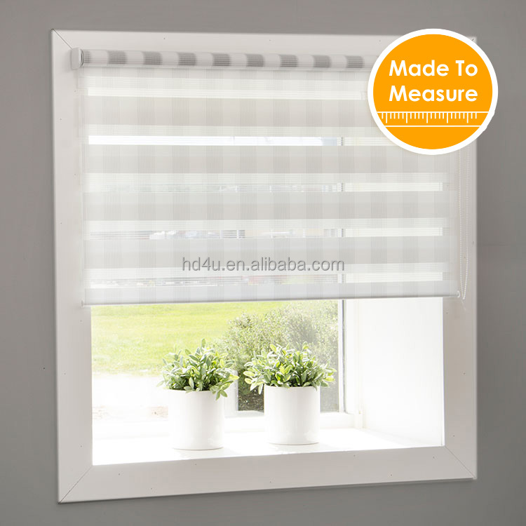 Mini roller blinds Screw free system zebra blinds Daynight roller shutter blinds window in Korea style