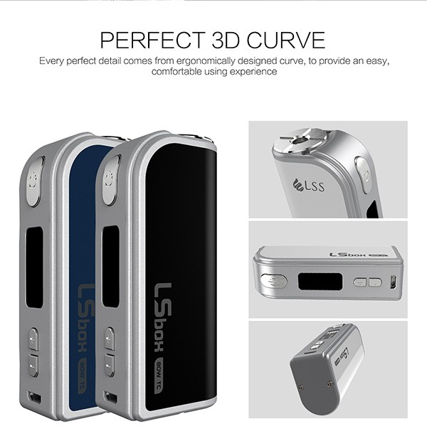 LSBOX 80W TC LSS 80W with 2200mah capacity and tempreture control box mod