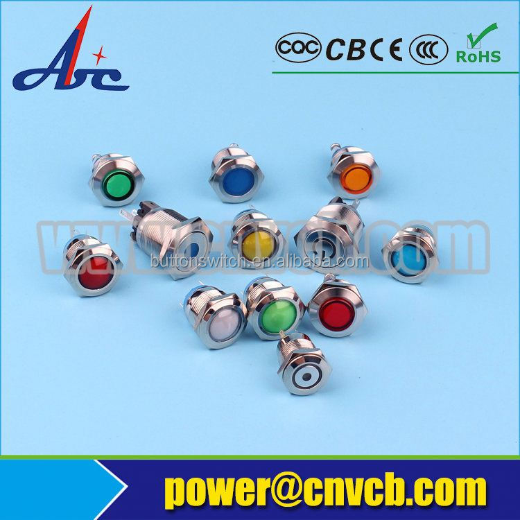 waterproof metal small led lights 6mm led indicator lamp