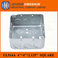 2014HOT 4x4 Inches Square Electrical Galvanized Metal OEM enclosure