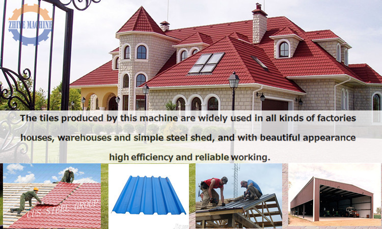 Glazed Color Roof Tile Forming Machines/Metal Step Sheet Making Machine