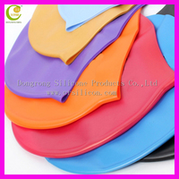 Dongguan China 100% silicone raw material water sports latex swim caps in customized design