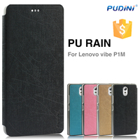 2014 Newest YUSI series mobile phone leather flip case for lenovo vibe p1m