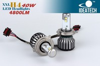 newest type auto led headlight h4 h7 9004 bulbs replace xenon hid kit !!!!! hot sale 12v 24v 80w 6000w