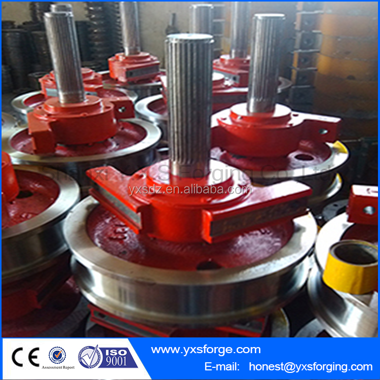 Rough machining train wheel