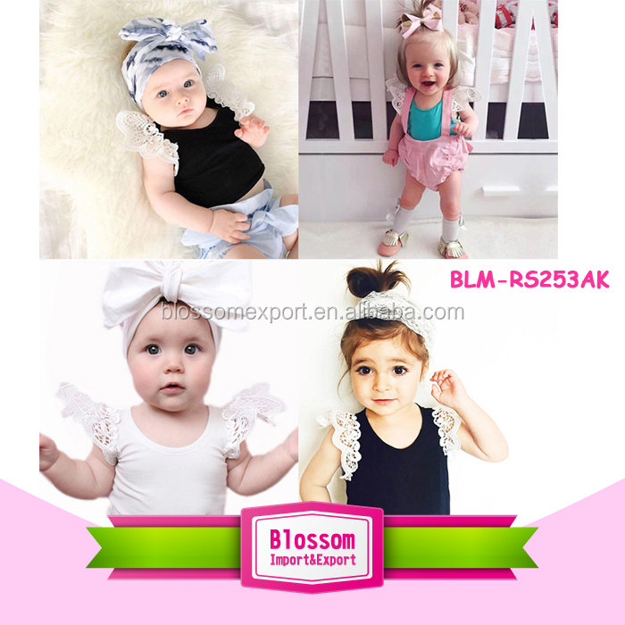 Summer Newborn Baby Clothes Sleeveless Baby Boy Girls Black And White Striped Cotton Wholesale Romper