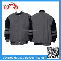 2015 Basketball Jacket High School Black and Grey Varsity Basketball Jacket Wholesale