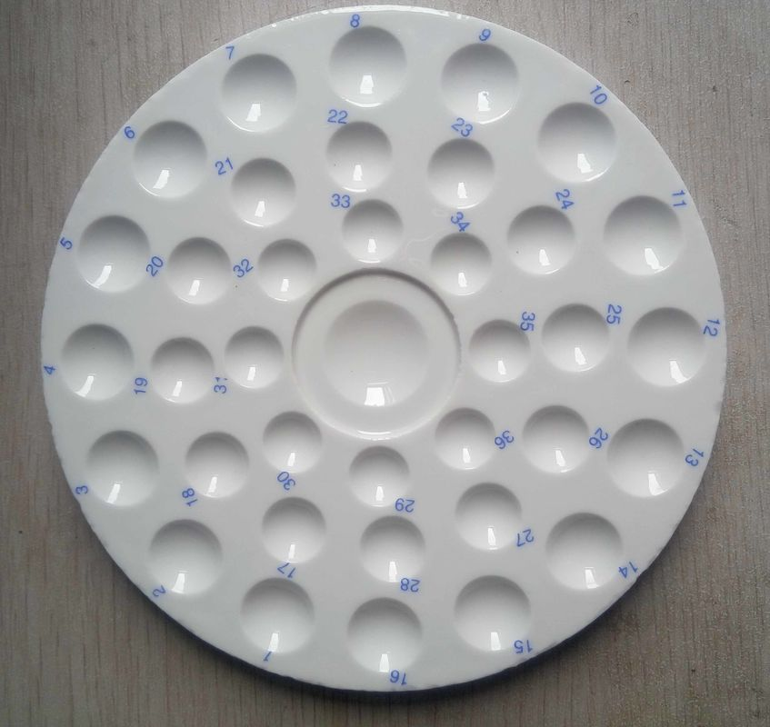 Round Dental Ceramic Mixing Slab(Wet tray )(Mixing tray ) (36 wells)