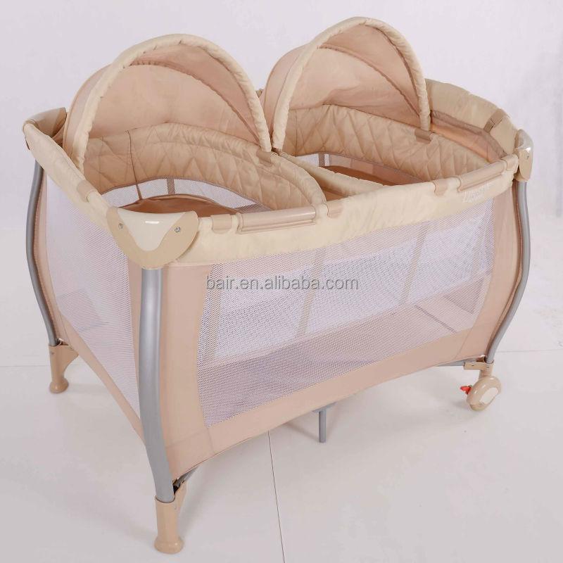 2017 Folding Crib Baby Twin Sleeping Bed For New Born