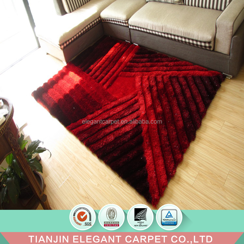 100% silk polyester 3d shag rugs sculptured rugs and carpets