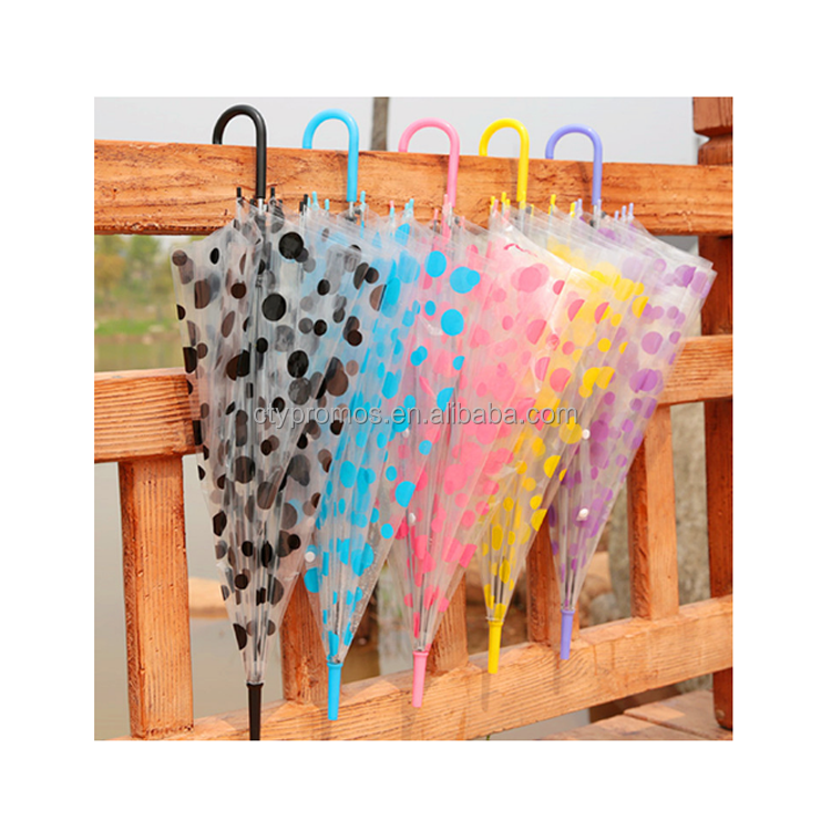 Personalized Folding Clear Transparent Pvc Umbrella, Kid Transparent Umbrella