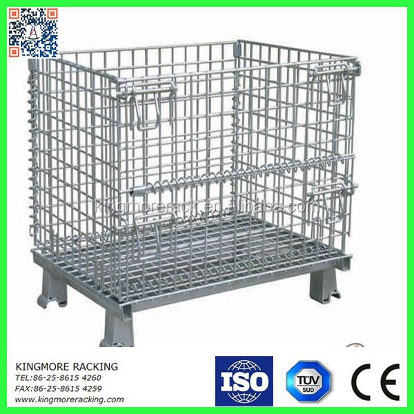 Collapsible wire mesh cage/storage container