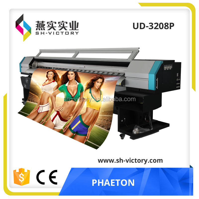 Phaeton UD-3208Q 3.2m/10ft inkjet color cheap price( 4 or 8 spt510/35pl printhead)