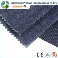 wholesale high quality cotton denim fabric prices with slub for jeans