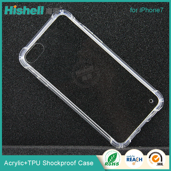 Mobile Phone Accessories Clear Crystal transparent TPU Phone Case For iPhone 7 plus