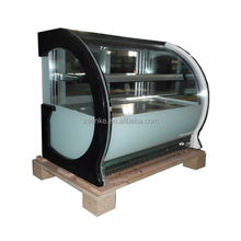 Curved glass food warmer for small hot food display