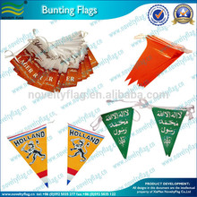 paper triangle flag bunting