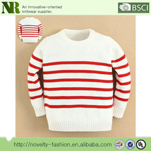 High Quality Cotton Material Kids Boys Strip Sweater Pullover Design