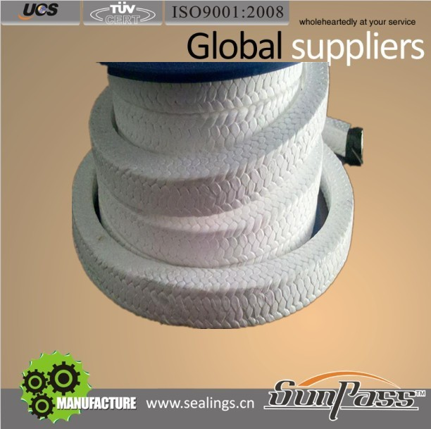 Shaft Seal Packing Food Grade Without Oil Pure PTFE Braided Gland Packing