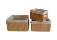 Bamboo Basket With Carrying Handle,Bamboo Foldable Basket,Bamboo Folding Basket FG-081