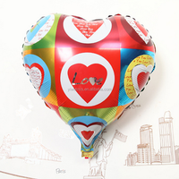 party supplies inflatable heart shaped love foil nylon balloon
