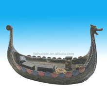 hand paint polyresin viking ship